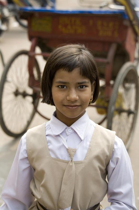 School Girl, Old Delhi
