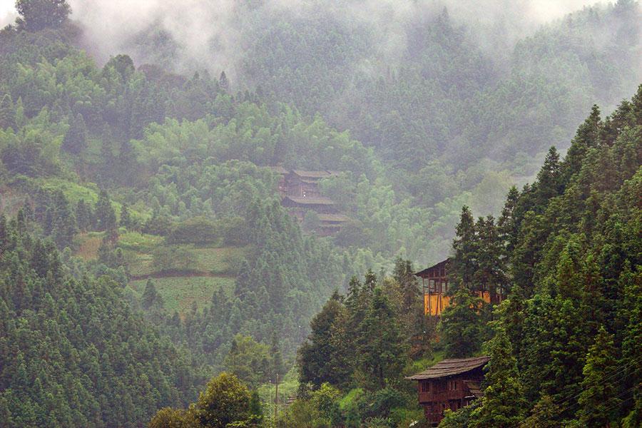 Mountain village near Jingping, China.