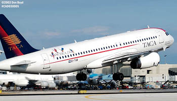 TACA A320-233 EI-TAB airliner aviation stock photo #2983