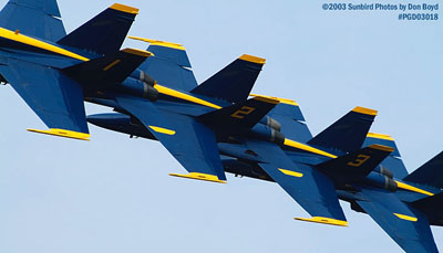 USN Blue Angels F/A-18 Hornets military aviation air show stock photo #3568