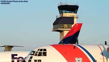 2003 - USCG HC-130H #CG-1502, FedEx B727-200, Delta Airlines B767-232 & Oceana NAS ATCT (#6721) aviation stock photo #6721