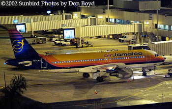 Air Jamaica A320-200 6Y-JMJ airliner aviation stock photo