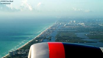 2002 - Dania Beach/Hollywood Beach from Delta B767-432 N836MH airline aerial aviation stock photo