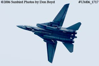The final flight ever for USN F-14D Grumman Tomcat 164342 Felix 100 military aviation stock photo #UM06_1717