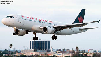 Air Canada A320-211 C-FTJQ airliner aviation stock photo