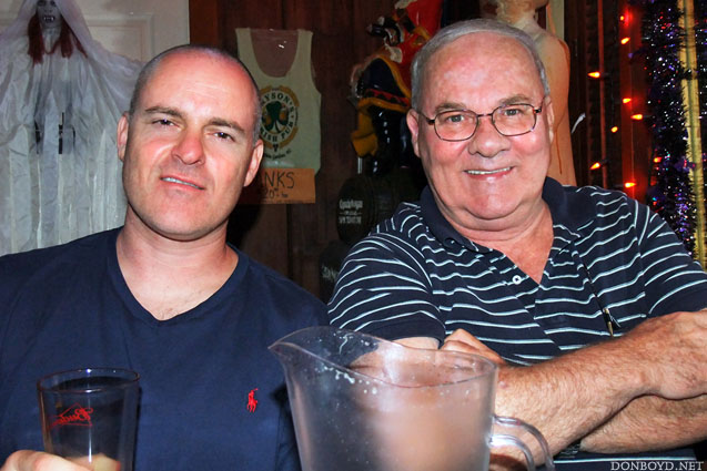 October 2011 - Joe Pries and Don Boyd after dinner and beers at Brysons Irish Pub