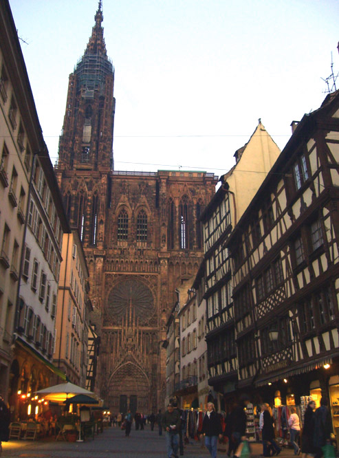 cathedral, strasbourg (7:15 pm)