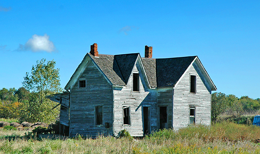 GRAY HOUSE IN KINDE MICHIGAN