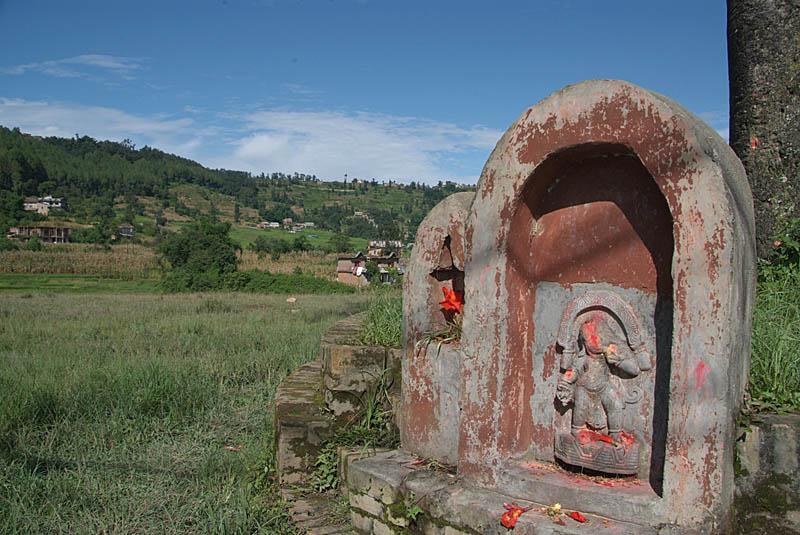 Shrine by Tree near Bhaktapur