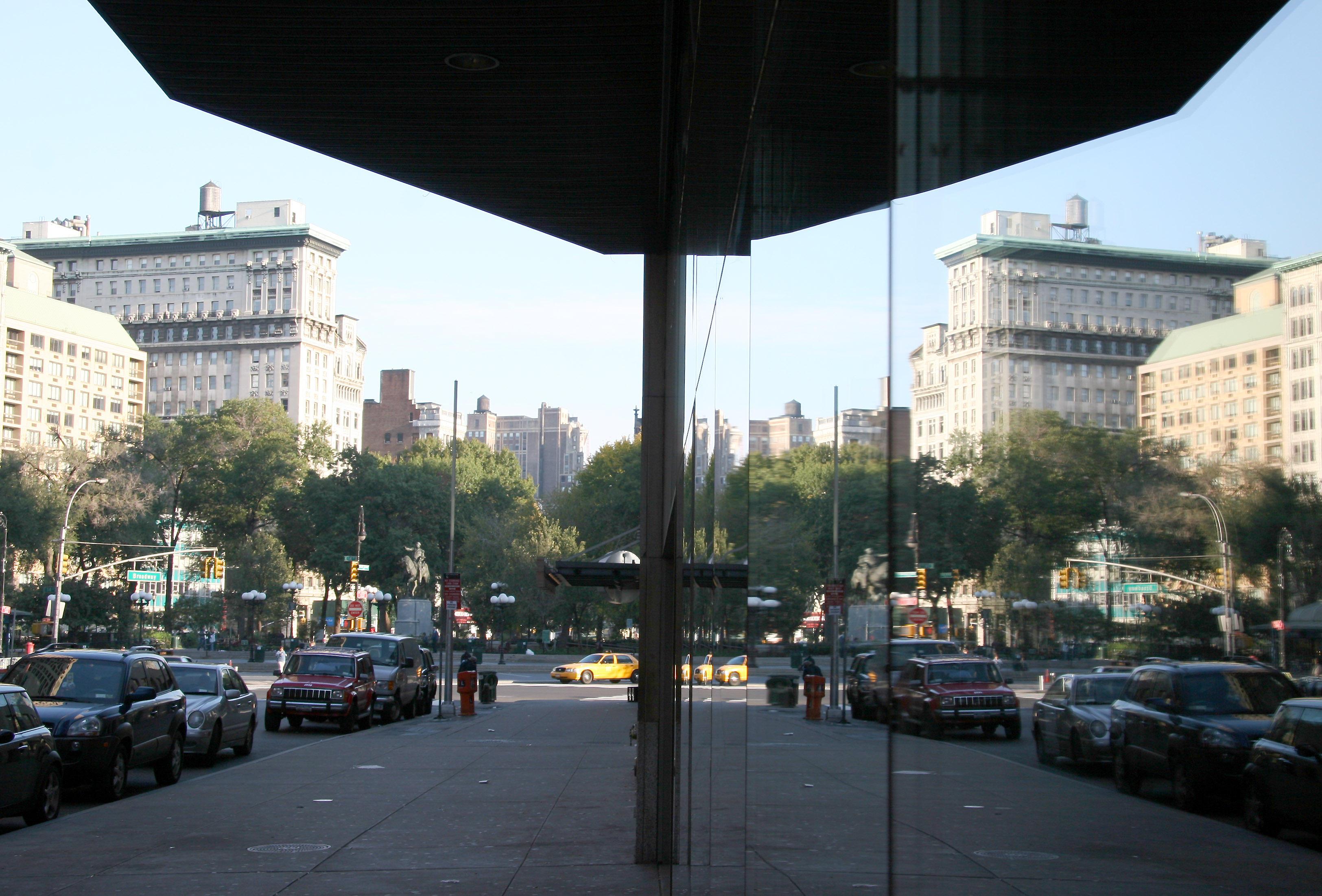 Union Square - United Artists Cinema Marque Reflection