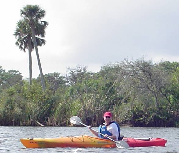 Marguerite kayaking
