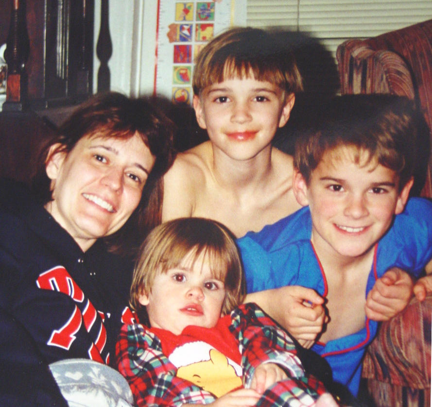 Marina and kids Christmas1997