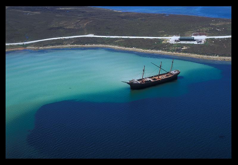 Ship Wreck outside Port Stanley