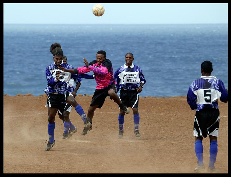 Local football match in Estancia Bras - Sao Nicolau