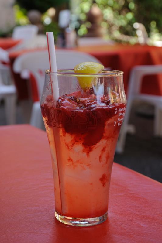 Mmm...Cool Strawberry Lemonade