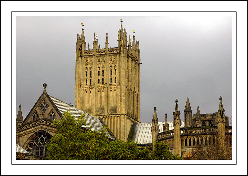It was a grey day! Wells Cathedral, Wells