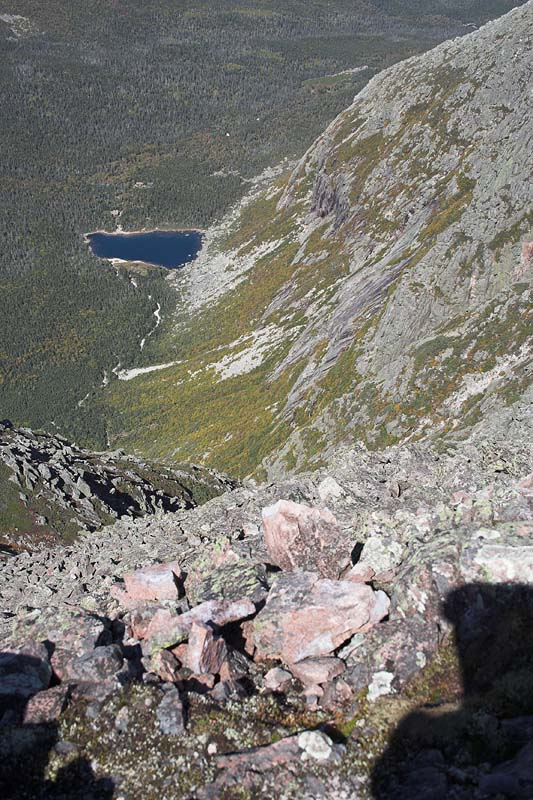 Another view down to Chimney Pond