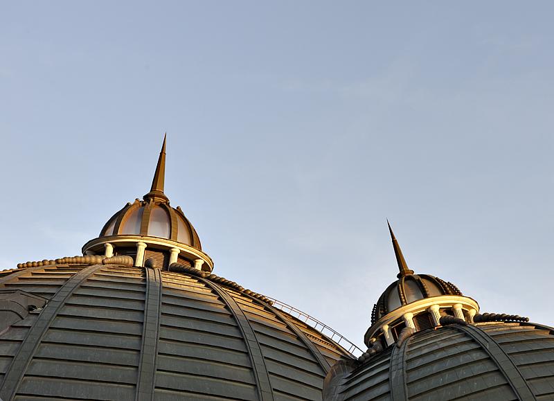 Opposing domes
