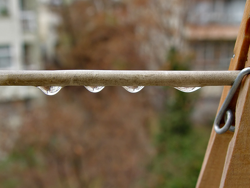Hung Out to Dry (Water Droplets/Bubbles Challenge)