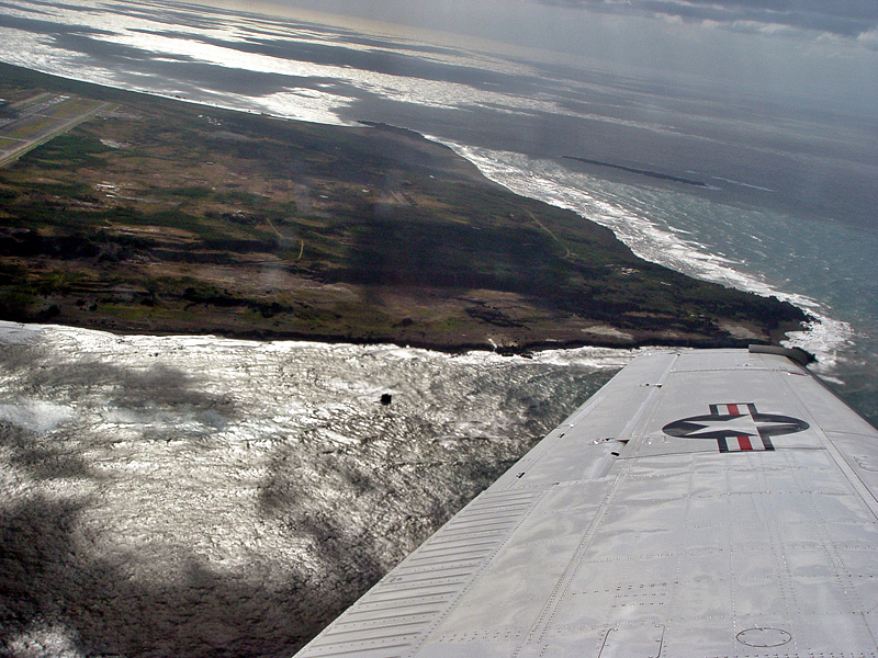 View of Iwo Jima from the air