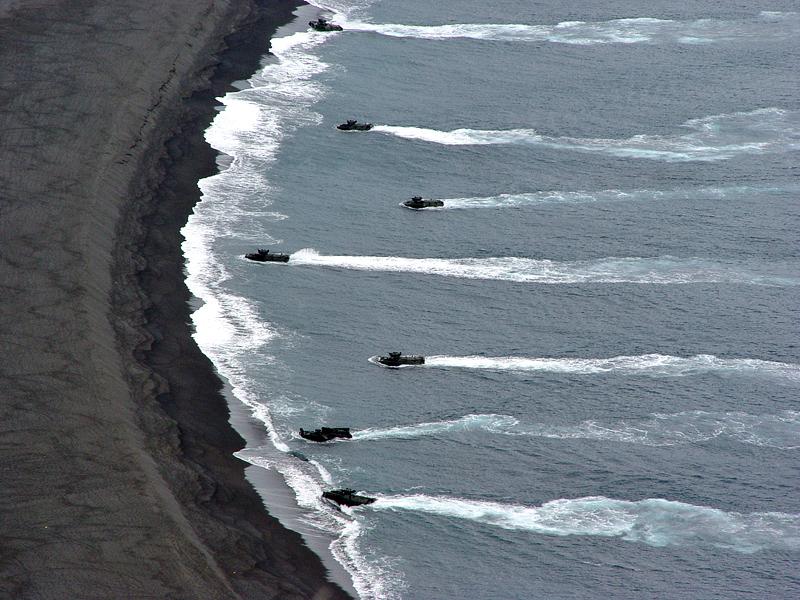 Amphibious landing