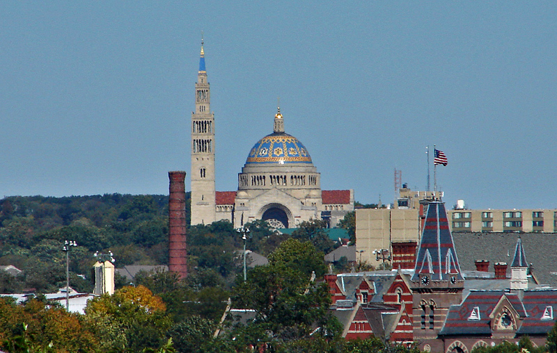 National Shrine of the Immaculate Conception from Capitol Hill