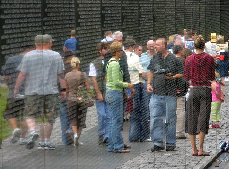 Moment of reflection, Vietnam War Memorial