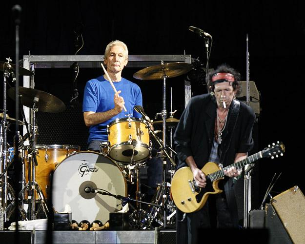 Charlie Watts and Keith Richards