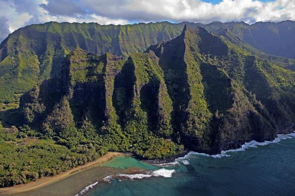 Makana Peak and Ke e Beach, Kauai, HI