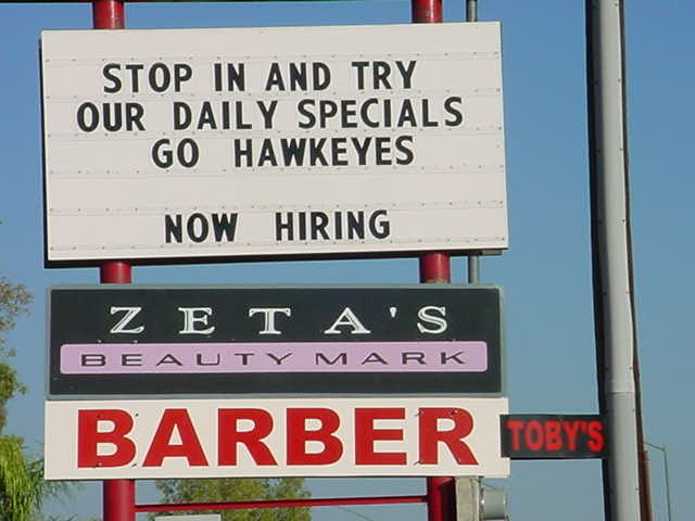 Tobys Barber Shop<br>480-325-7436<br>call Toby for a great cut