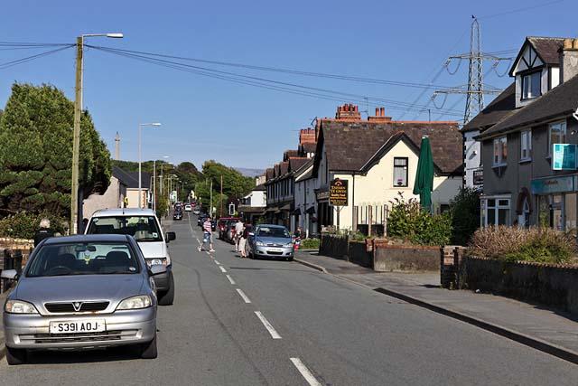Main street of Llanfairpwll, Anglesey