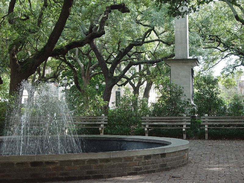 THE FIRST OF 24 PUBLIC  SQUARES IN HISTORIC SAVANNAH