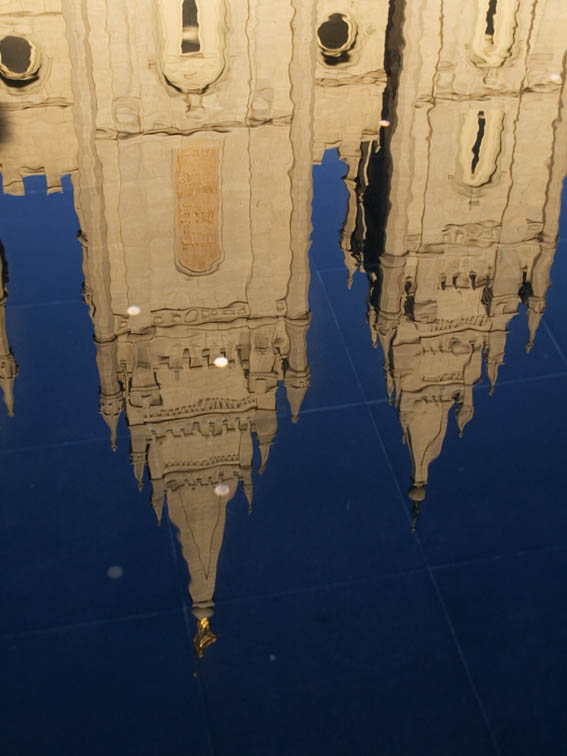 <B>Temple Reflection</B> <BR><FONT SIZE=2>Temple Square, Salt Lake City, Utah September 2006</FONT>