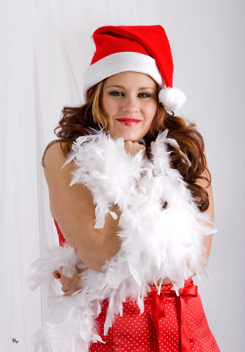 Lindsay as Santas Helper