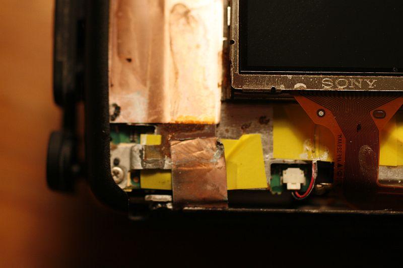 Below LCD - detail.