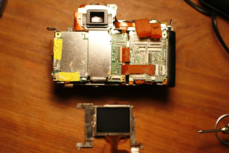 Rear view. Digic circuit board visible on left.