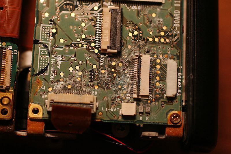 More circuit board crusties.