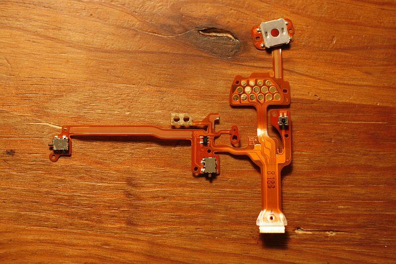 Shutter button wiring