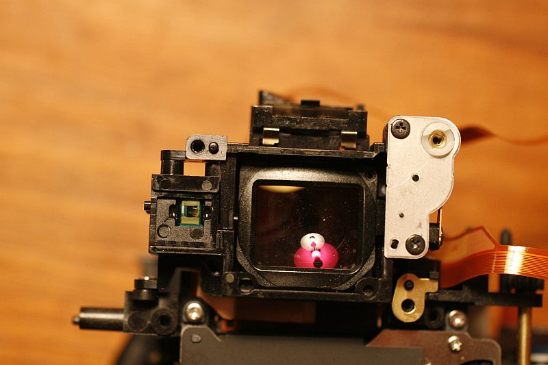 Area around viewfinder (without wires).