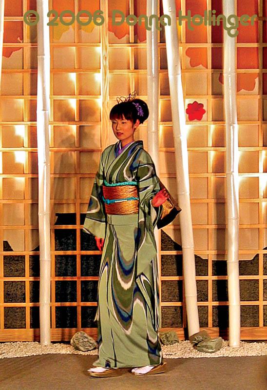 Modeling a Green Kimono