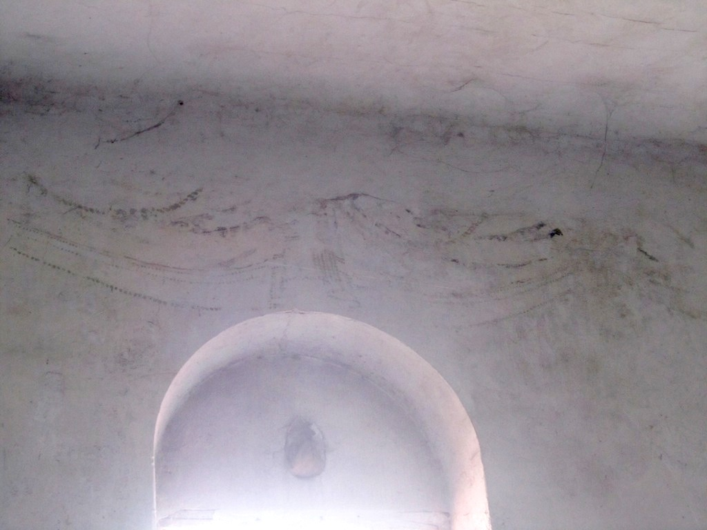 there are some faint marks on an interior wall