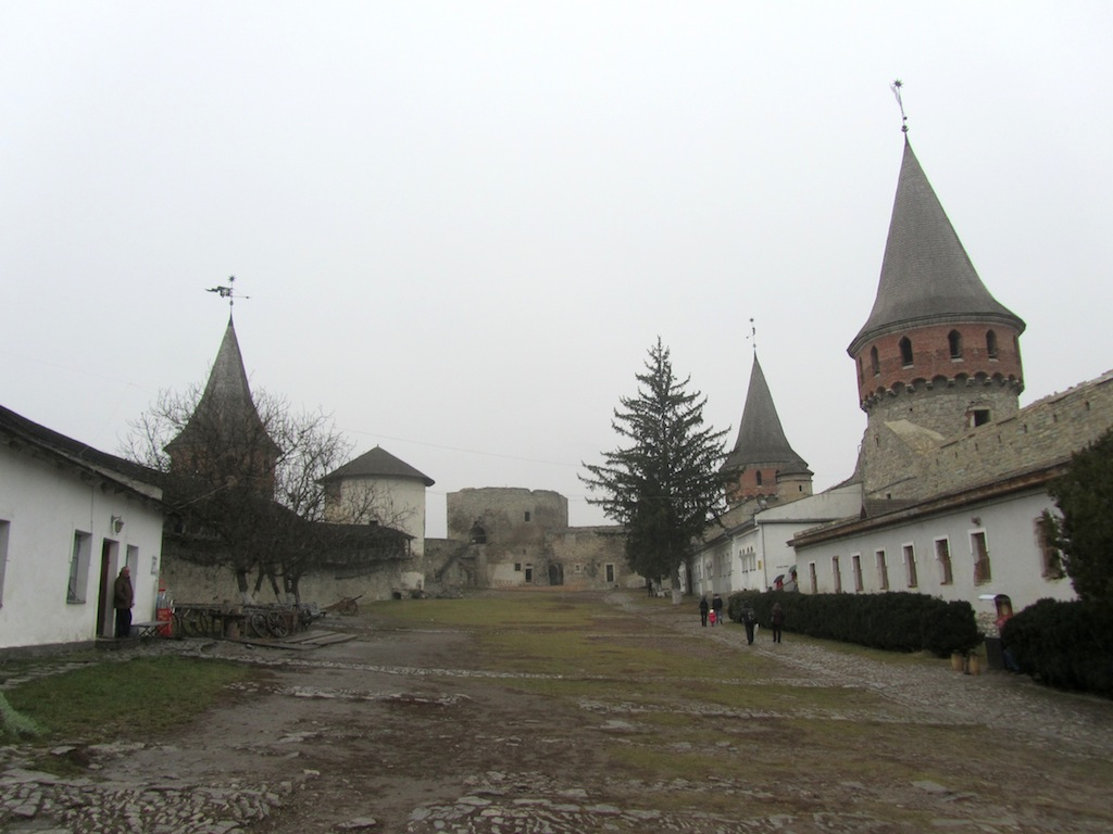 inside the castle compound