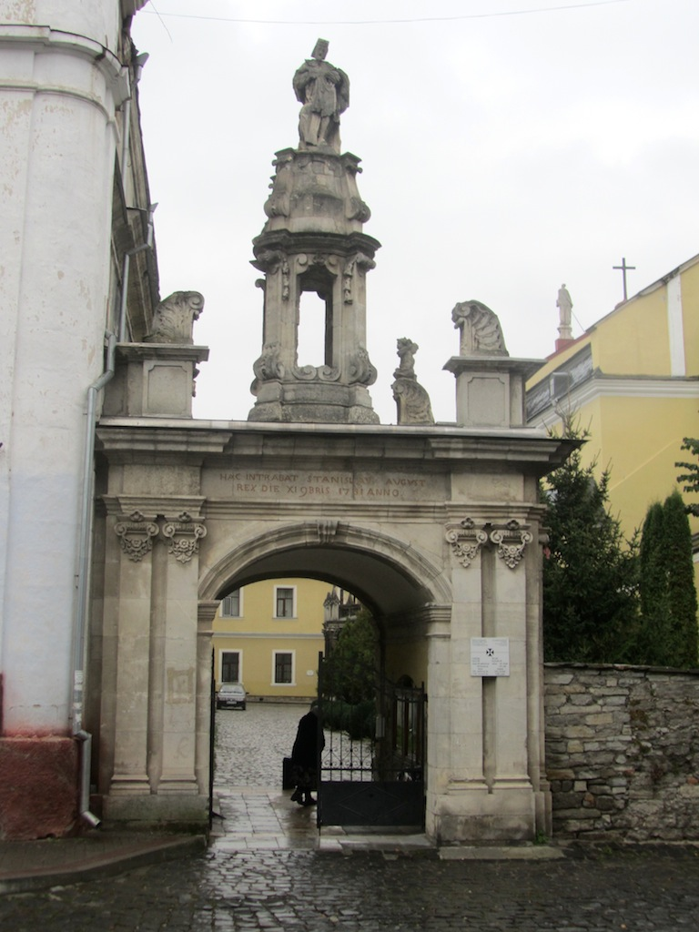entering the gate of the church of Saints Peter and Paul...