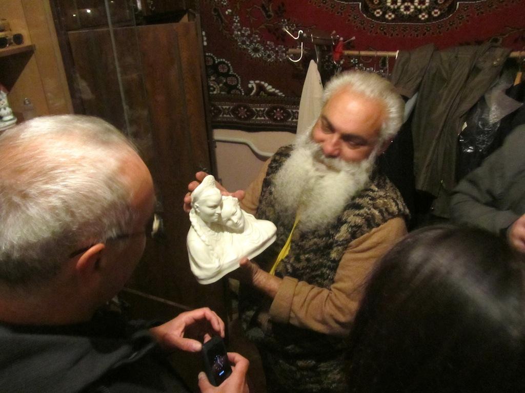 Artur is also a collector of porcelain sculptures...