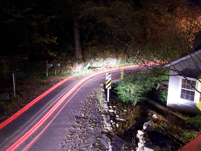 Baskins Creek Road by Night
