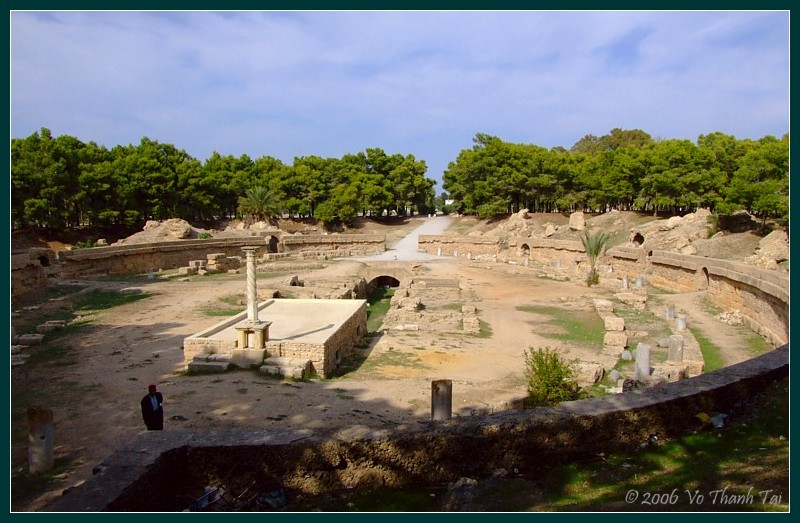 Remnants of a Roman theatre, Carthage
