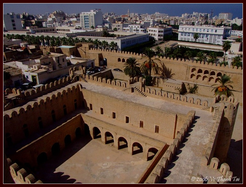 View of Ribat from tower, Sousse
