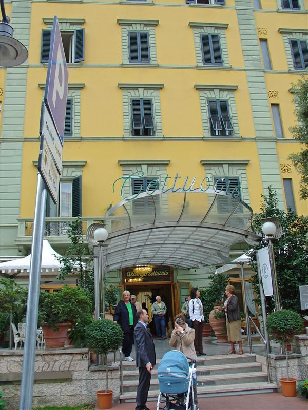 A hotel in Montecatini, Tuscany resort town
