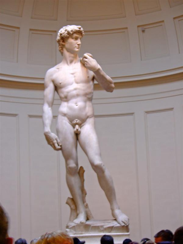 Michaelangelos masterpiece, the statue of David