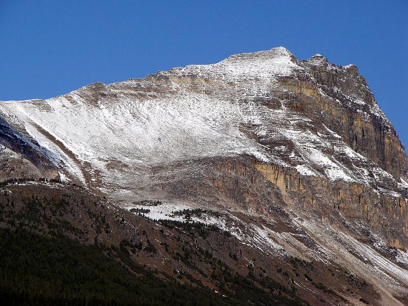 Fresh snow, blue skies, big mountain